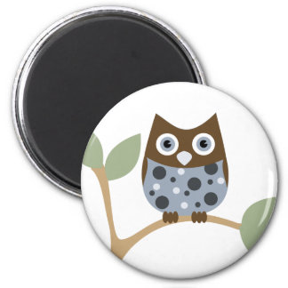 Blue Owl Baby 2 Inch Round Magnet