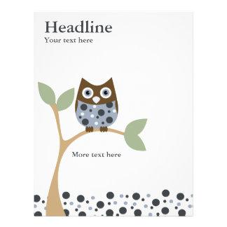 "Blue Owl Baby 8.5"" X 11"" Flyer"