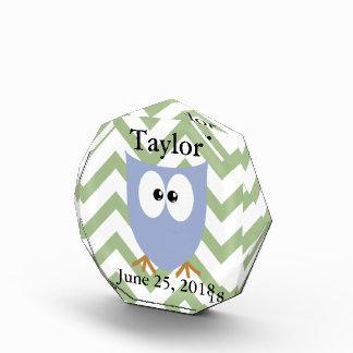 Blue Owl Baby Boy Acrylic Award