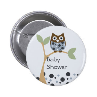 Blue Owl Baby Button