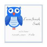 Blue Owl Baby Canvas Print