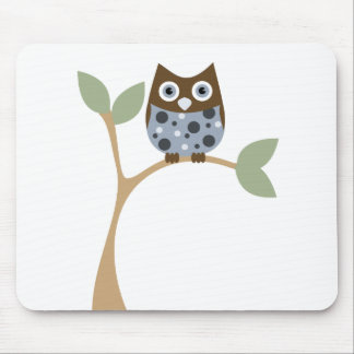 Blue Owl Baby Mouse Pad