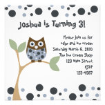 Blue Owl Baby Personalized Invite
