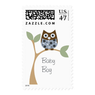 Blue Owl Baby Postage Stamp