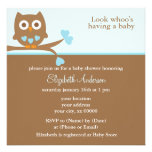 Blue Owl Baby Shower Announcements