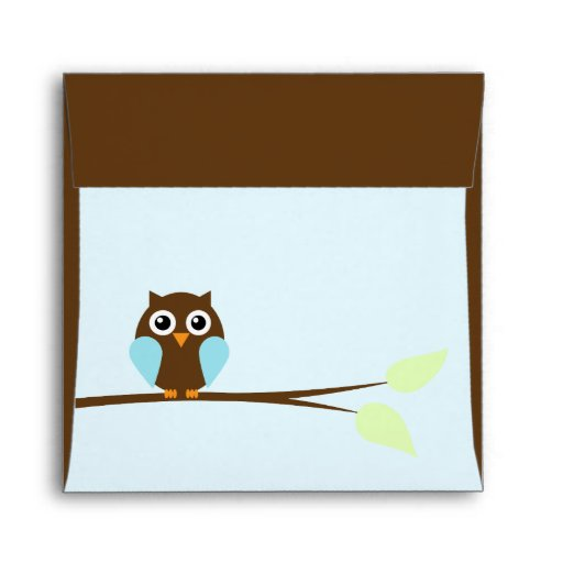 blue owl baby shower envelopes zazzle