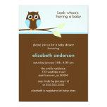 Blue Owl Baby Shower Invitations