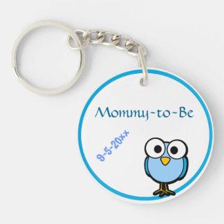 Blue Owl  Baby Shower Keychain