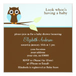 Blue Owl Baby Shower Personalized Announcements
