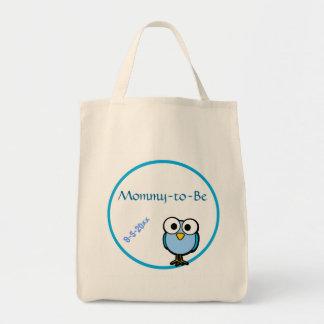 Blue Owl  Baby Shower Tote Bag