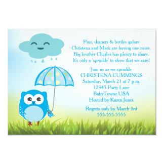 Blue Owl Baby Sprinkle Invitation