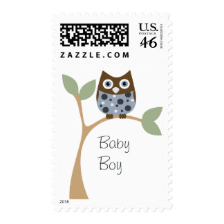Blue Owl Baby Stamp