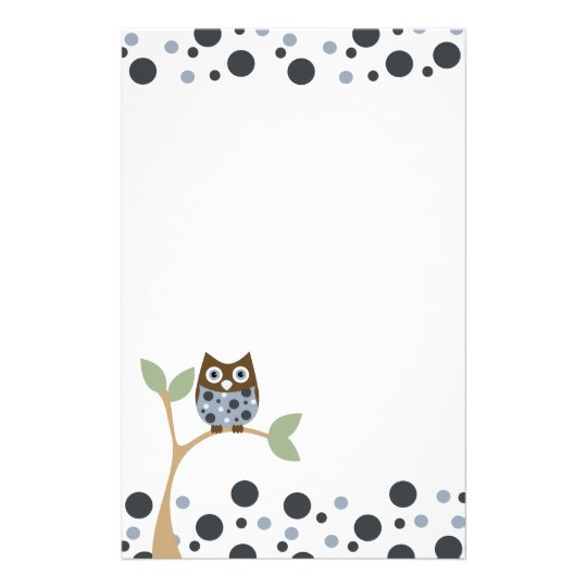 Blue Owl Baby Stationery