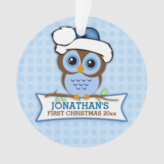 Blue Owl Baby's 1st Christmas Ornament