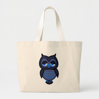 Blue Owl Jumbo Tote Bag