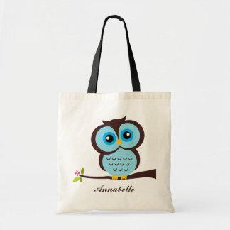 Blue Owl Canvas Bags