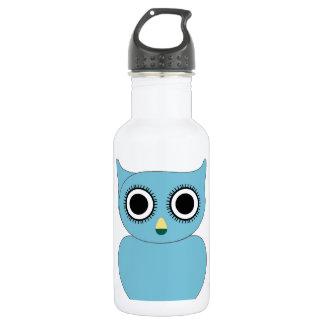 Blue owl- bird of prey 18oz water bottle