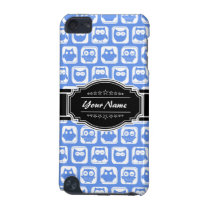 Blue Owl Black Personalized Name iPod Touch (5th Generation) Case