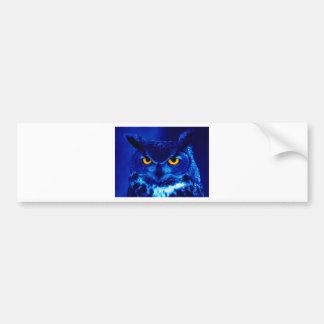 BLUE OWL BUMPER STICKER