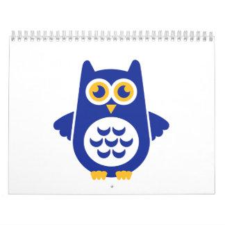 Blue owl calendar