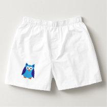 Blue owl cartoon boxers