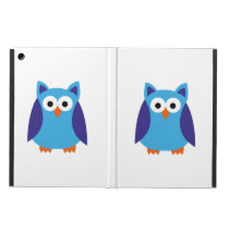 Blue owl cartoon case for iPad air