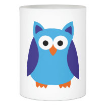 Blue owl cartoon flameless candle