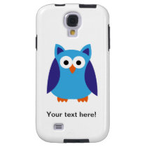Blue owl cartoon galaxy s4 case