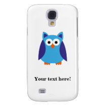 Blue owl cartoon galaxy s4 cover