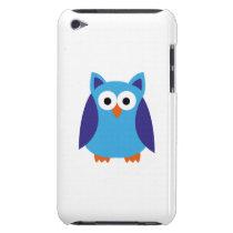 Blue owl cartoon iPod touch Case-Mate case