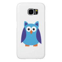 Blue owl cartoon samsung galaxy s6 case