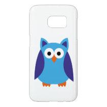 Blue owl cartoon samsung galaxy s7 case