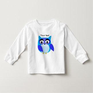 Blue owl children cartoon Illustration Toddler T-shirt