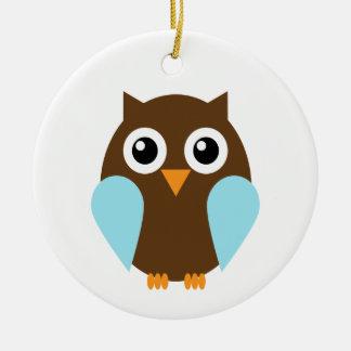 Blue Owl Christmas Ornament