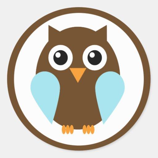 Blue Owl Classic Round Sticker