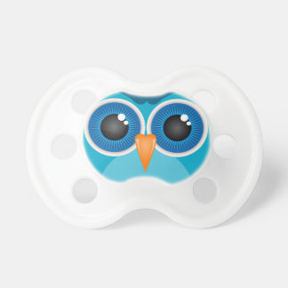 Blue Owl Face Baby Pacifiers