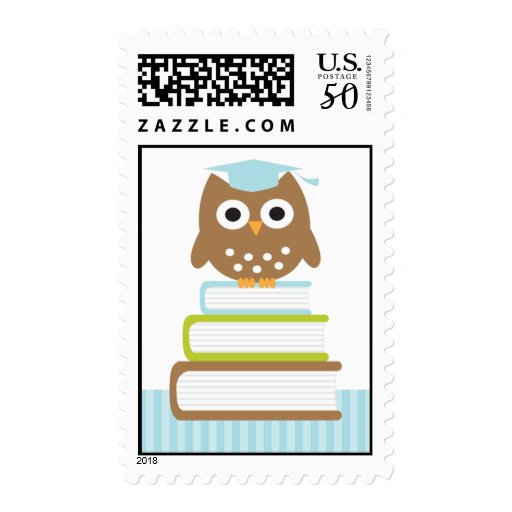 Blue Owl Graduation Postage