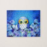 Blue Owl in Dandelion Field Puzzles
