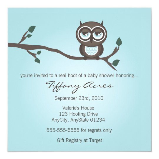 Blue Owl Invitation