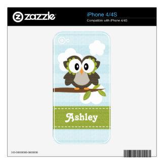 Blue Owl iPhone 4 4s Skin iPhone 4S Skin