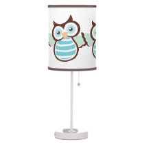Blue Owl Lamp