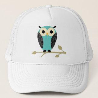 Blue Owl On Limb Trucker Hat