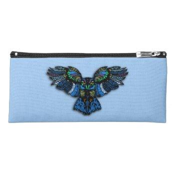 Blue Owl Pencil Case