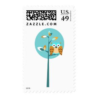 Blue Owl Postage Stamp
