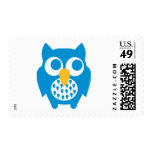Blue owl postage stamps