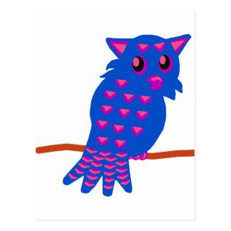 Blue Owl Postcard
