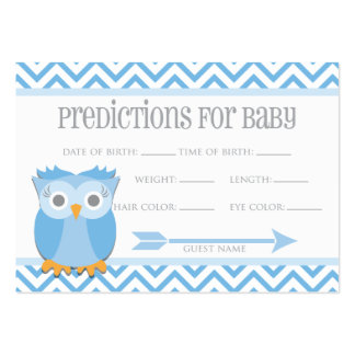 Blue Owl Predictions Card Large Business Cards (Pack Of 100)
