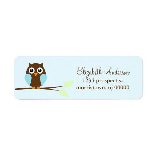 Blue Owl Return Address Labels