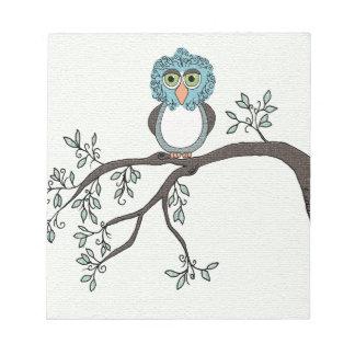 Blue Owl Scratch Pads