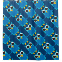 Blue Owl Shower Curtain